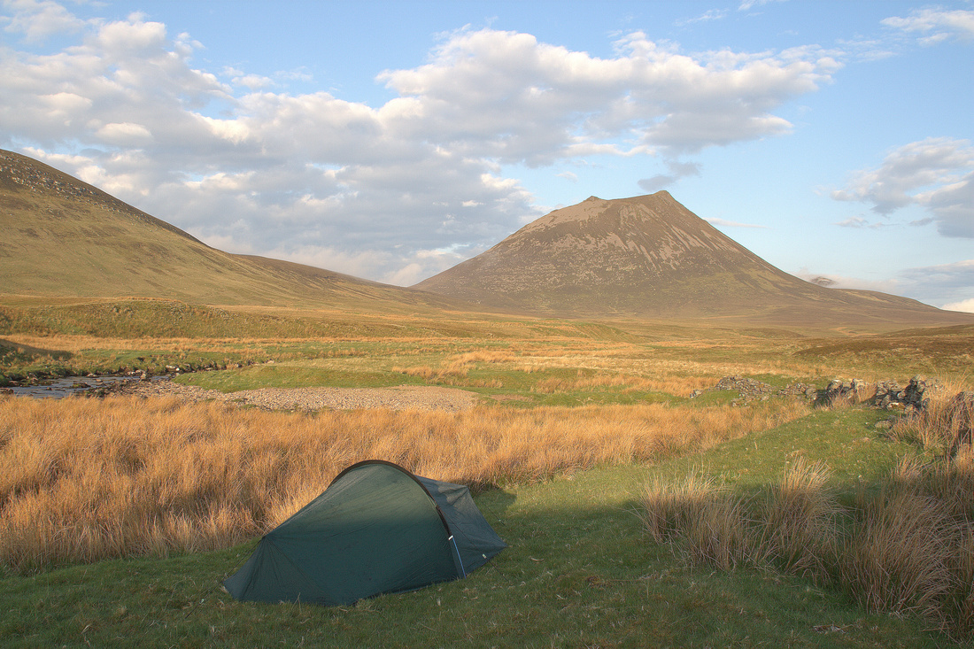 My Tent - with a great view of Morven