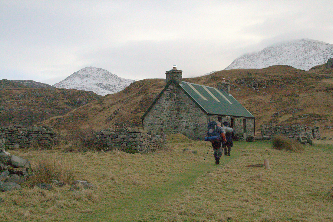 Arriving at Peanmeanach Bothy