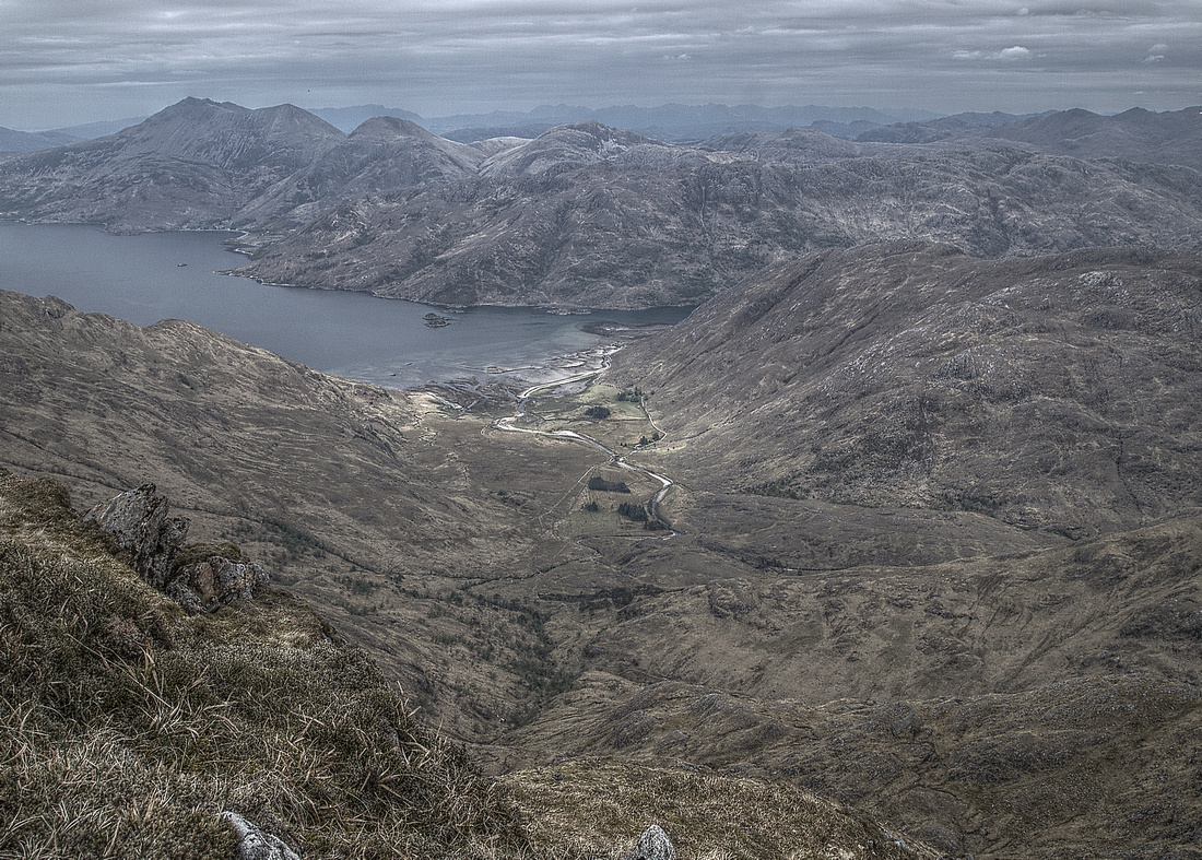 Barrisdale from the top of Luinne Bheinn