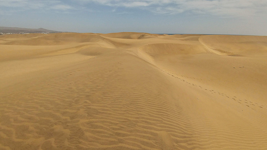 Walking on the Dunes of Maspalomas
