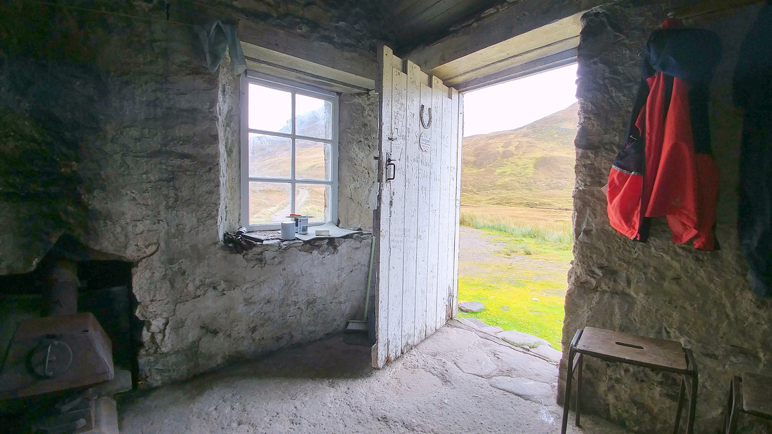 Inside the Lairig Leacach Bothy