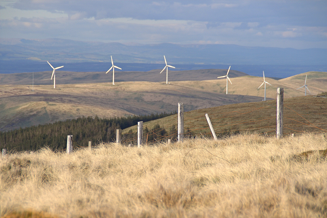 Wind Turbines and Fence Posts