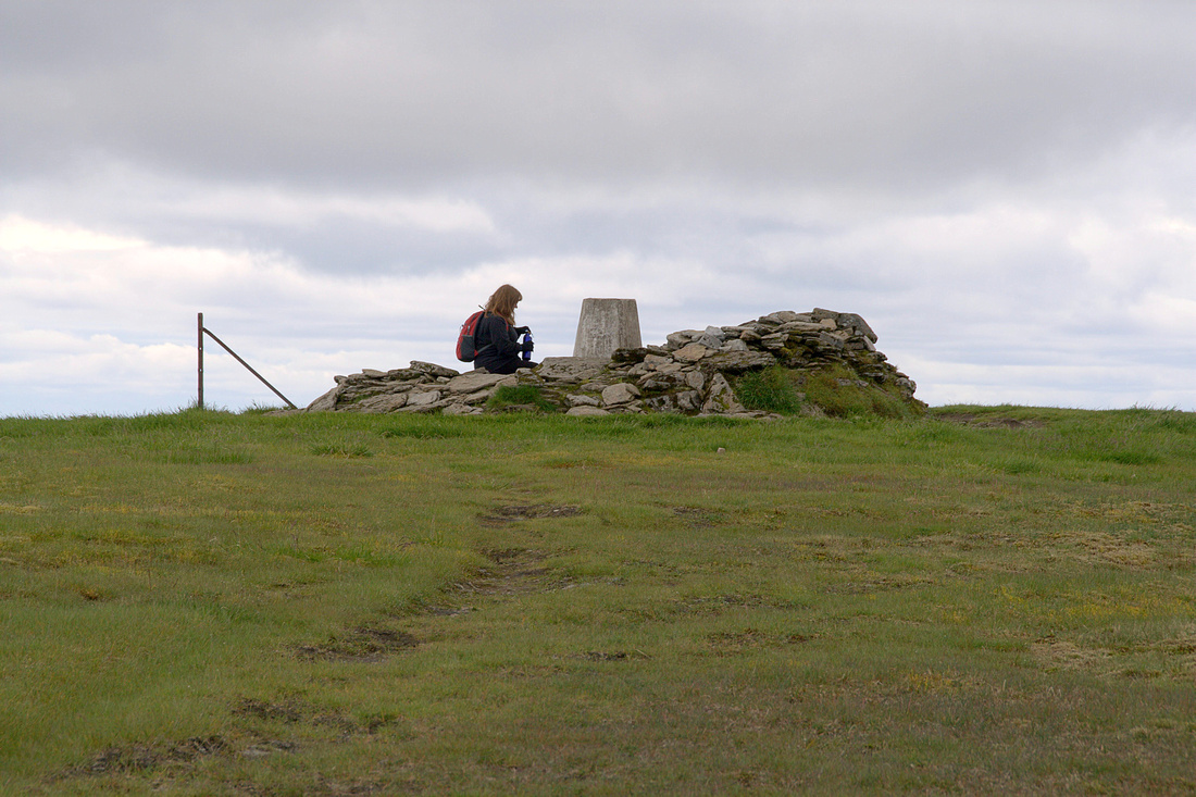 At the top of Ben Wyvis