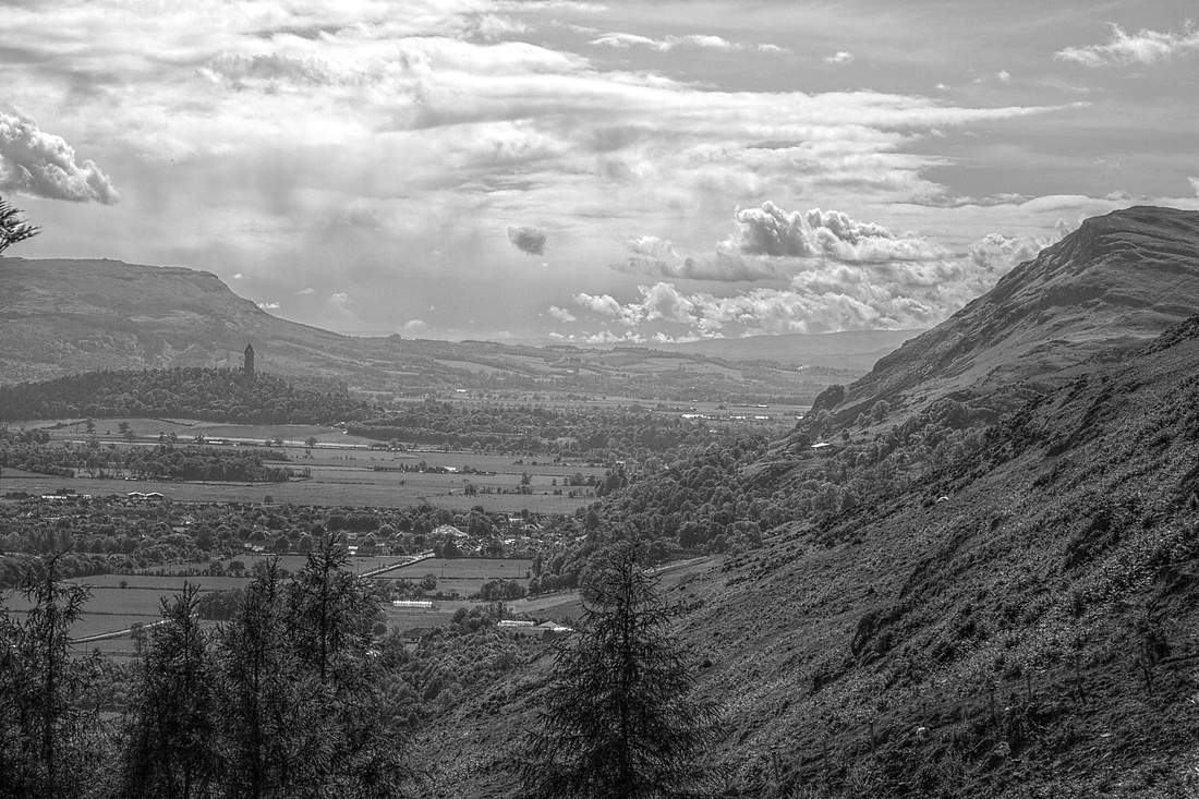 Ochil Hills and Wallace Monument