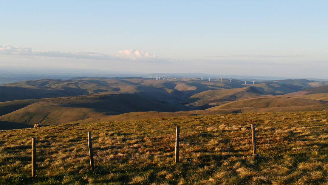 Northeast on Ben Cleuch