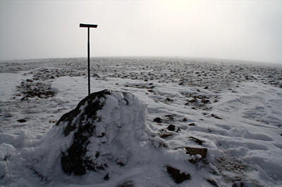 At the summit of Beinn Uldamain