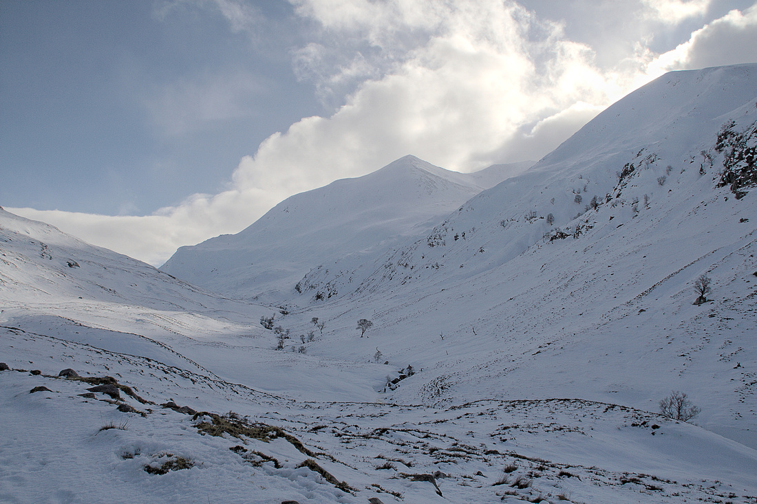 The Lairig Leacach in Winter