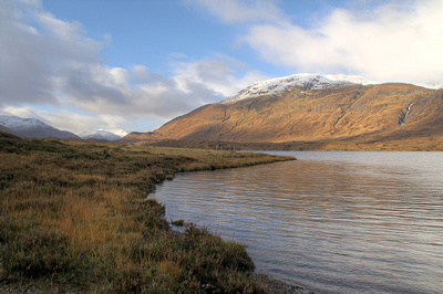 Walking along the banks of Loch Affric