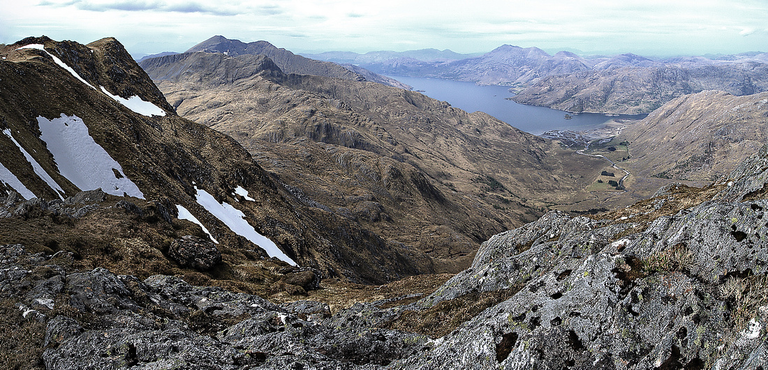 Looking down on Barrisdale from Luinne Bheinn