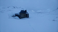 The Lairig Leacach bothy in Winter